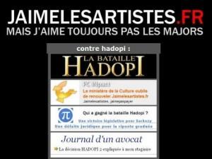 Jaimelesartistes.fr, novembre 2009
