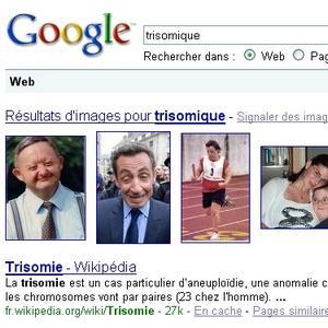 """Google Bombing """"Trisomique"""" sur Nicolas Sarkozy"""